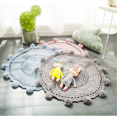 Kids Blankets Baby Knitting Blanket Play Mat Carpet Crawling Mat Nursery Decor