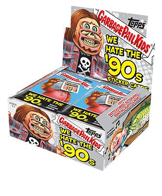 Garbage Pail Kids Series 1 We Hate The 90's Retail Display Box Trading Sticker C