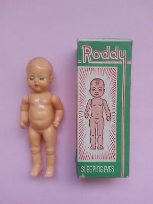 Antique Roddy doll with original box, collectable vintage toy vintage doll
