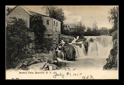 Dr Jim Stamps Us Buttons Falls Granville New York View Postcard