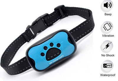 BEST No Shock Dog Bark Collar Safe Vibrating No Harm Training Anti-Barking NEW