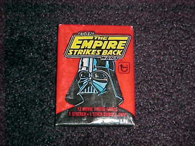 Topps STAR WARS The Empire Strikes Back 1st Series Unopened Wax Pack  (Red) 1980