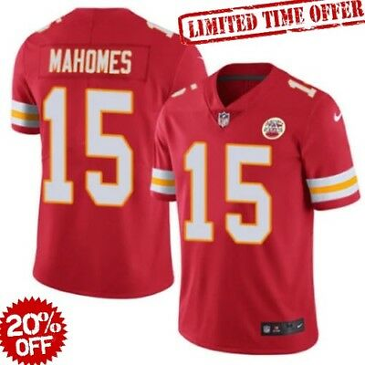 Patrick Mahomes #15 Leighton Kansas City Chiefs Football stitched Jersey Limited