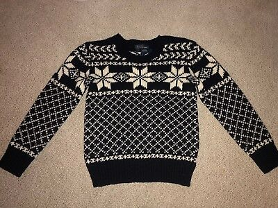 Boys Ralph Lauren Polo 100% Wool Pullover Sweater Sz 6 New With Tags $125 Black
