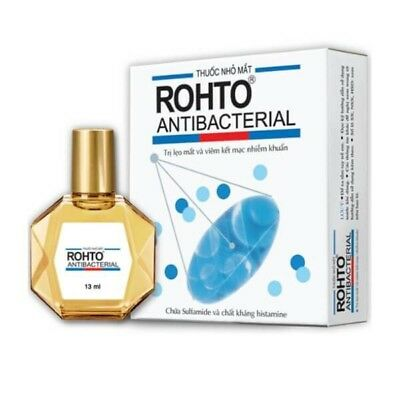 V Rohto Antibacterial Eye Drops 13ml Free Shipping. Best Price. USA Seller!