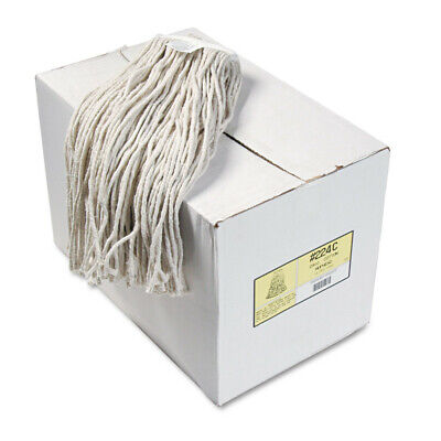 Boardwalk Premium Cut-End Wet Mop Heads, Cotton, 24oz, White, 12/carton  224CCT