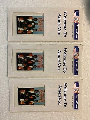 Amerivox Champions Forever 3 Pack Of Collectors Phone Card - New In Envelope