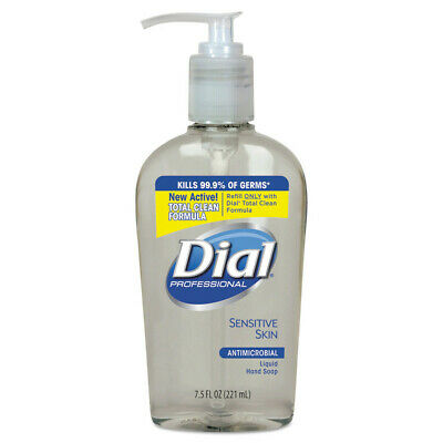 Dial Antimicrobial Soap For Sensitive Skin 7.5oz Decor Bottle 12/ctn 82834 NEW