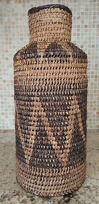 Vintage Tall Handmade Nito Vine and Bamboo Decorative Basket Philippines