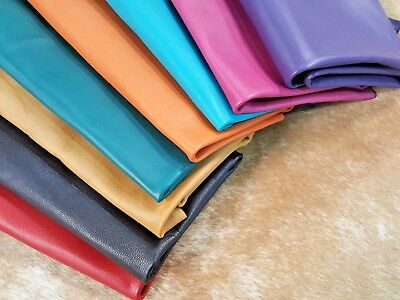 Premium Goat Nappa Leather hide skin DIY Craft  Project 2.5 oz colors available