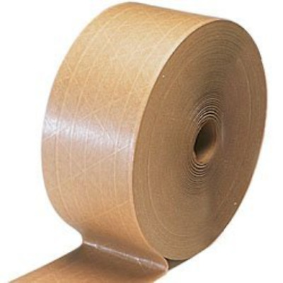 """3"""" x 450' Kraft Reinforced Water Activated Tape 1 Roll"""