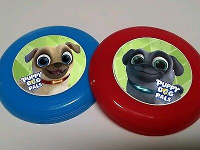 12 PUPPY DOG PALS Mini Frisbees Birthday Party Favor Treat Bags Prizes LOOT