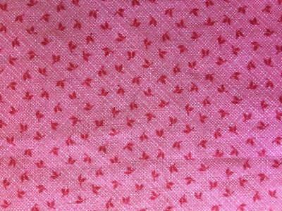 ~Back In Time Textiles~Antique 1890 Double pink calico fabric great 4 doll dress