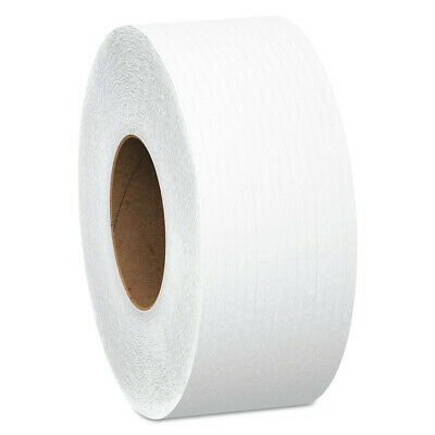 "Kimberly-Clark Jrt Jumbo Roll Bathroom Tissue, 2-Ply, 9"" Dia, 1000ft, 4/carton"