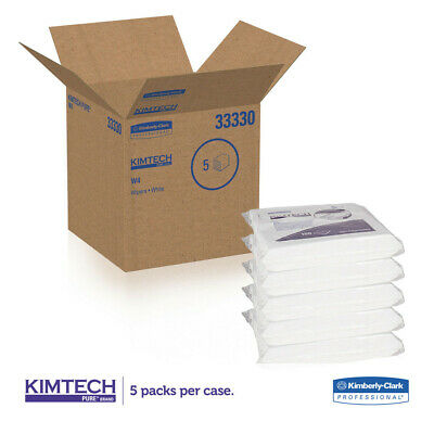 Kimberly-Clark W4 Critical Task Wipers, Flat Double Bag, 12x12, White, 100/pack,