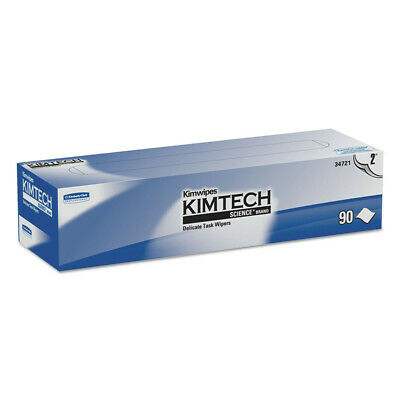 Kimberly-Clark Kimwipes Delicate Task Wipers, 2-Ply, 14 7/10 X 16 3/5, 90/box, 1