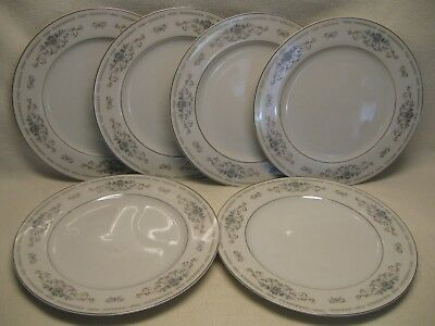 "Wade Fine Porcelain China of Japan Diane (6) 10 1/4"" Dinner Plates VGUC"