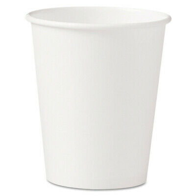 SOLO Polycoated Hot Paper Cups, 10 Oz, White 370W NEW
