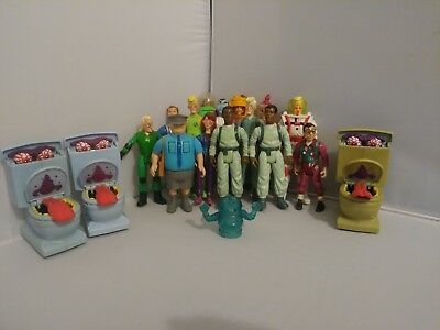 Vintage Ghostbusters HUGE Lot OF 18 Action Figures Ghosts1984-1990 Kenner RARE