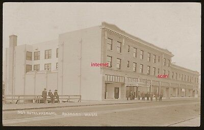 Photo Postcard,RPPC, Raymond Hotel,Raymond,Washington 1912, Nr Tokeland, Olympia