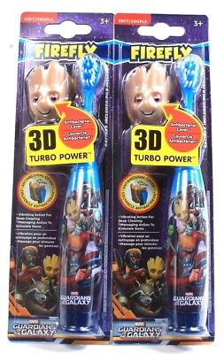 2 Ct Firefly Marvel Guardians Of The Galaxy 3D Turbo Vibrating Soft Toothbrushes
