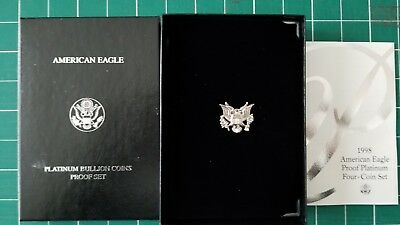 1998 American Eagle 4-Coin Proof Platinum Set