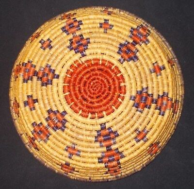 "Antique / Vtg SW Indian Native American Hand Woven Basket 10"" Dia. Tribe Unknown"
