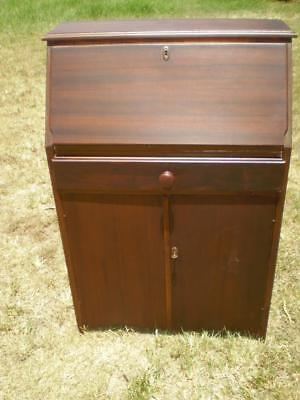 Art deco vintage style Writing Bureau Cabinet fold down front 2 door 1 draw ,key