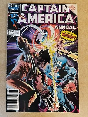Captain America Annual #8  featuring the Wolverine