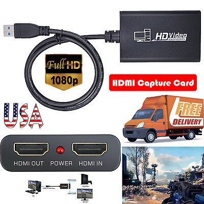 1080P 60fps Full HD USB 3.0 Video Capture Adapter Box For Windows Laptop PS3 STB