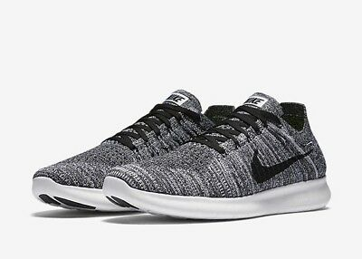 Nike Free Oreo RN Flyknit Mens Running Shoes Size 10.5