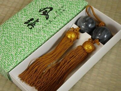 Hanging scroll weight / KAKEJIKU / FUCHIN / Agate stones / Japanese Vintage 26l