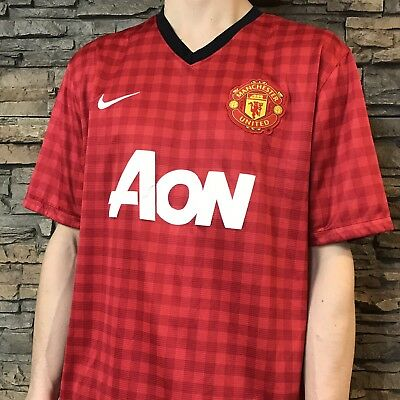 best sneakers 30c69 9248c VINTAGE NIKE DRIFIT Manchester United Man Utd Mufc Home ...