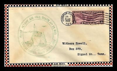 Dr Jim Stamps Us Corpus Christi First Flight Air Mail Cover Am 22 Ac Roessler