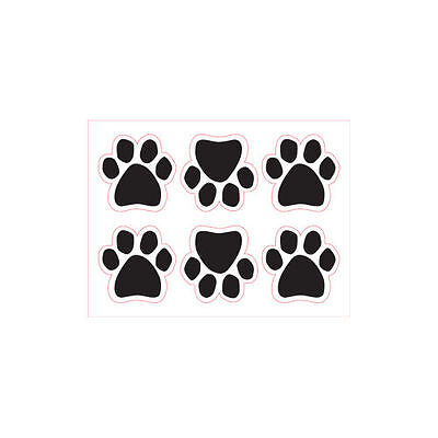 6 Small Mini Paws Dog Paw Quote Car Magnet