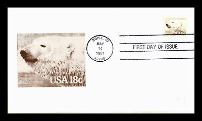 Dr Jim Stamps Us Polar Bear American Wildlife Animals First Day Cover Boise
