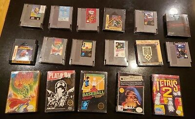 Nintendo NES Game Lot of 17: Dragon Warrior, BARDS TALE, tetris 2, KID ICARUS ++