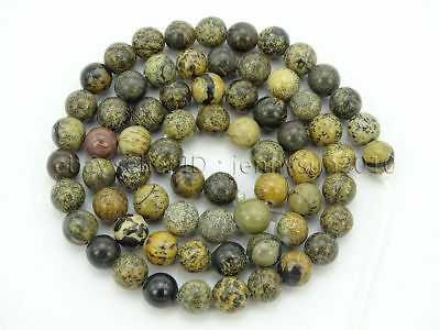 Auction 68Pcs Natural Artistic Jasper Gemstone Round Spacer Beads 15.5'' 6mm