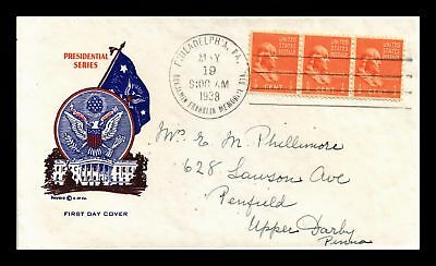 Dr Jim Stamps Us Ben Franklin Presidential Fdc Cover Scott 803 Pavois Strip