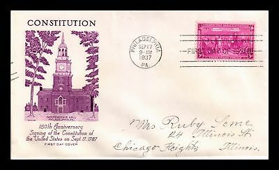 Dr Jim Stamps Us Constitution Independence Hall Fdc Grimsland Cover Scott 798