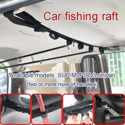 Fishing VRC Vehicle Rod Carrier Rod Holder Belt Strap With Tie Suspenders Wrap