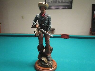 Collectible Western Americana Cowboy with rifle Figurine - Elegante Collection