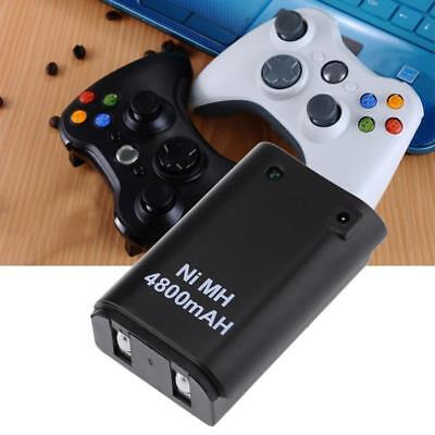 4800mAh Battery Pack+ Charger Cable For Xbox 360 Wireless Controller