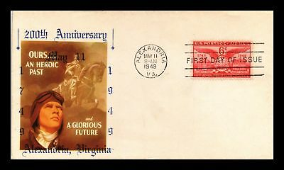 Dr Jim Stamps Us 200 Years Alexandria Virginia Air Mail Fdc Cover C40
