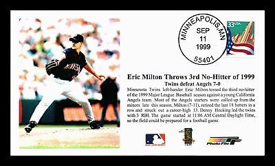 Dr Jim Stamps Us Eric Milton Minnesota Twins Baseball Event Cover 1999