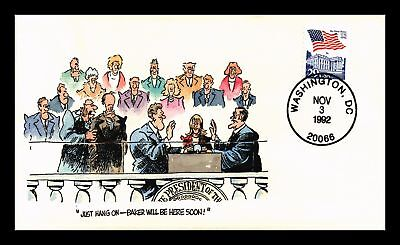 Dr Jim Stamps Us Hand Painted Election Day Political Event Cover 1992 Clinton