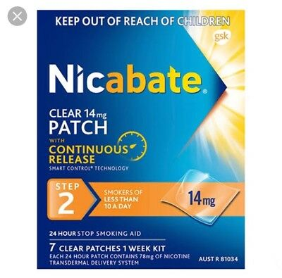 2 X 14mg  Nicabate Boxes (14 Patches)