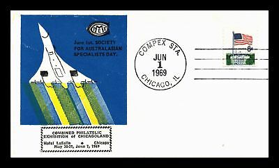 Dr Jim Stamps Us Compex Philatelic Event Cover Australasian Specialist Day 1969