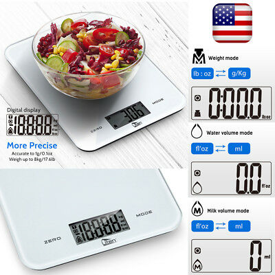 Digital LCD Weighing Kitchen Scale 8Kg Electronic Glass Cooking Food Scale Tool