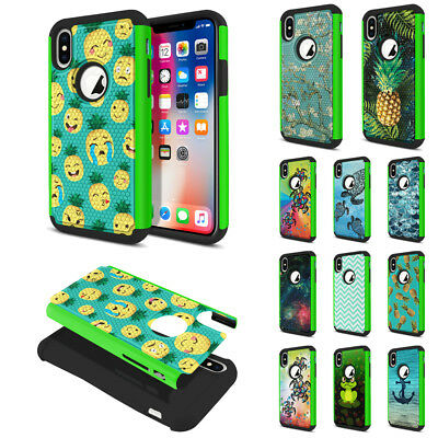 For Apple iPhone X / XS 5.8 inch Armor Rugged Hybrid Rubber Silicone Case Cover